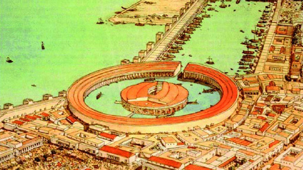 Port Kartaginy około 200 roku p.n.e.