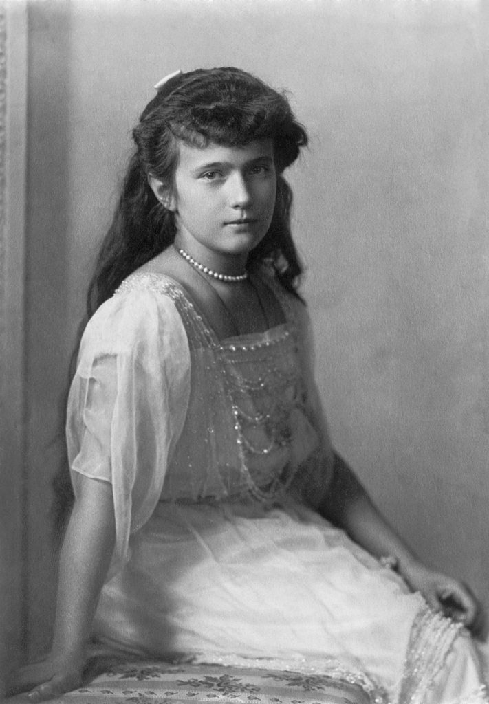 Prawdziwa Anastazja. Zdjęcie wykonane około 1914 roku (domena publiczna).