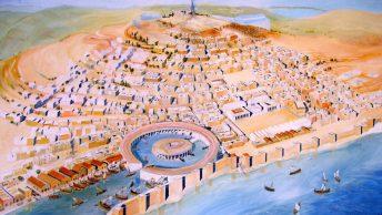 Rekonstrukcja wyglądu miasta w Muzeum Narodowym Kartaginy