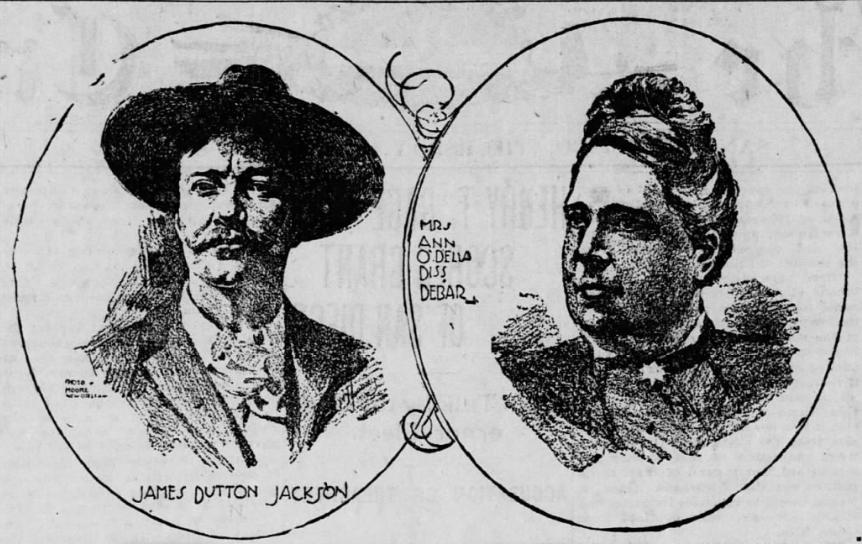 Prasowy rysunek przedstawiający Ann i jej męża (domena publiczna).