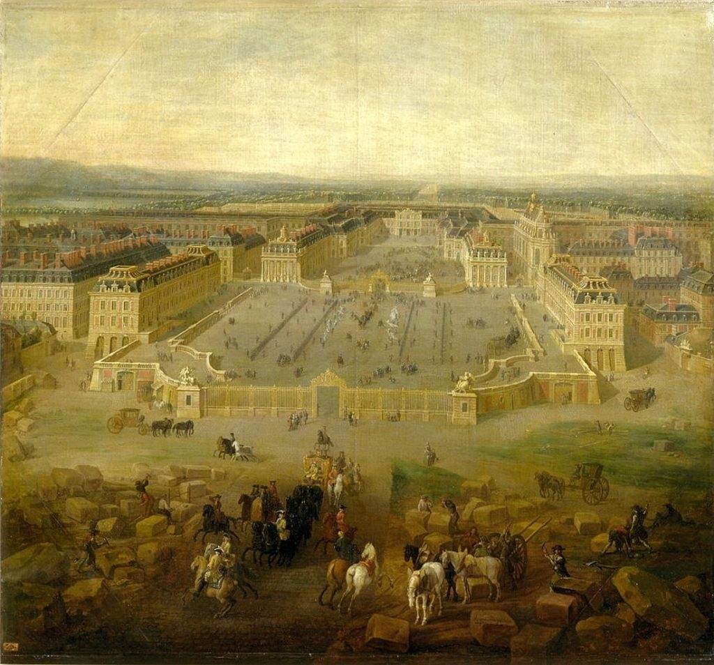 Tak Wersal wyglądał niedługo po śmierci Ludwika XIV (Pierre-Denis Martin/domena publiczna).