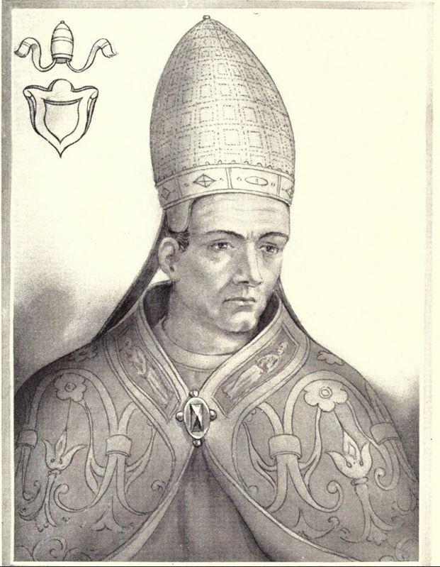 XIX-wieczne wyobrażenie papieża Stefana VI (domena publiczna).