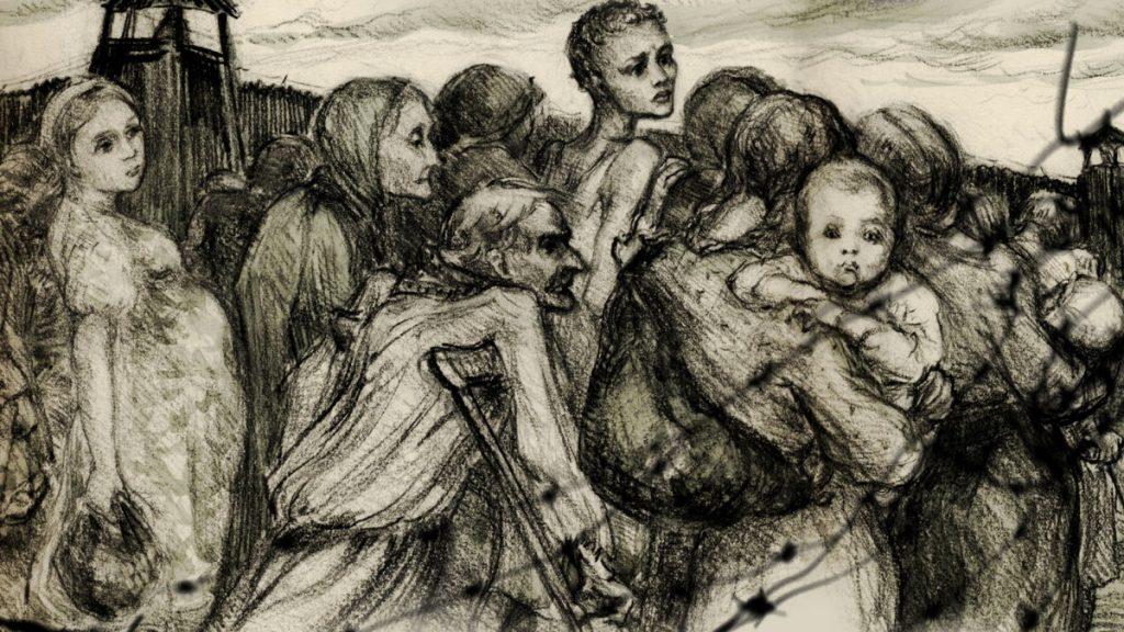 """Fragment plakatu promującego film Marianny Janowskiej """"The Women of Gulag""""."""