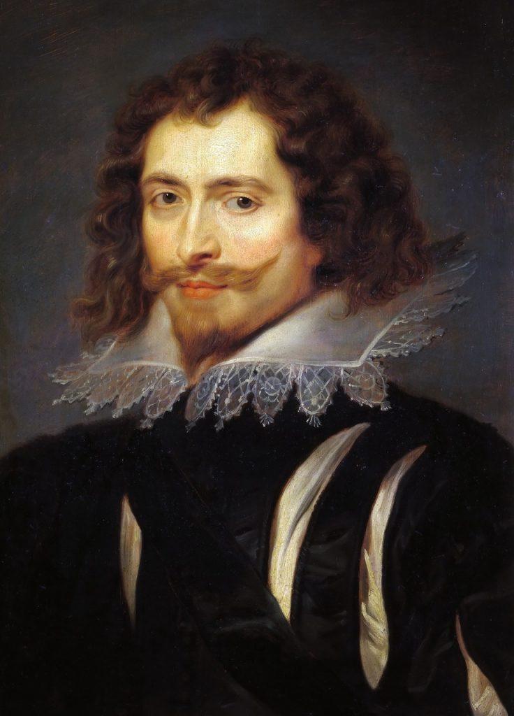 Gdy pzekręty Gilesa Mompessona wyszły na jaw nie był mu w stanie pomóc nawet faworyt króla George'a Villiers domena publiczna).