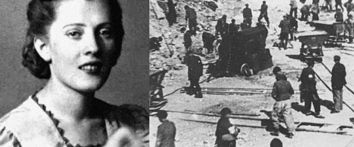 Irene Gut i żydowscy więźniowie obozu w Tarnopolu