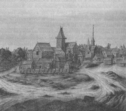 Posiadłość szlachecka nieopodal Nowogrodu w XVII wieku.