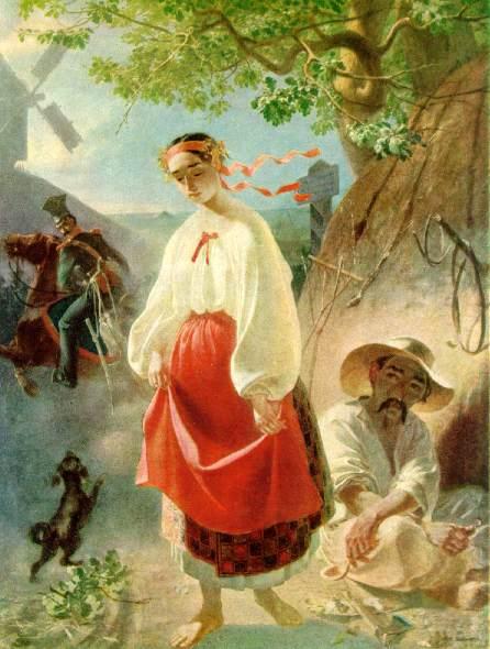 Ukraińska chłopka na obrazie Tarasa Szewczenki