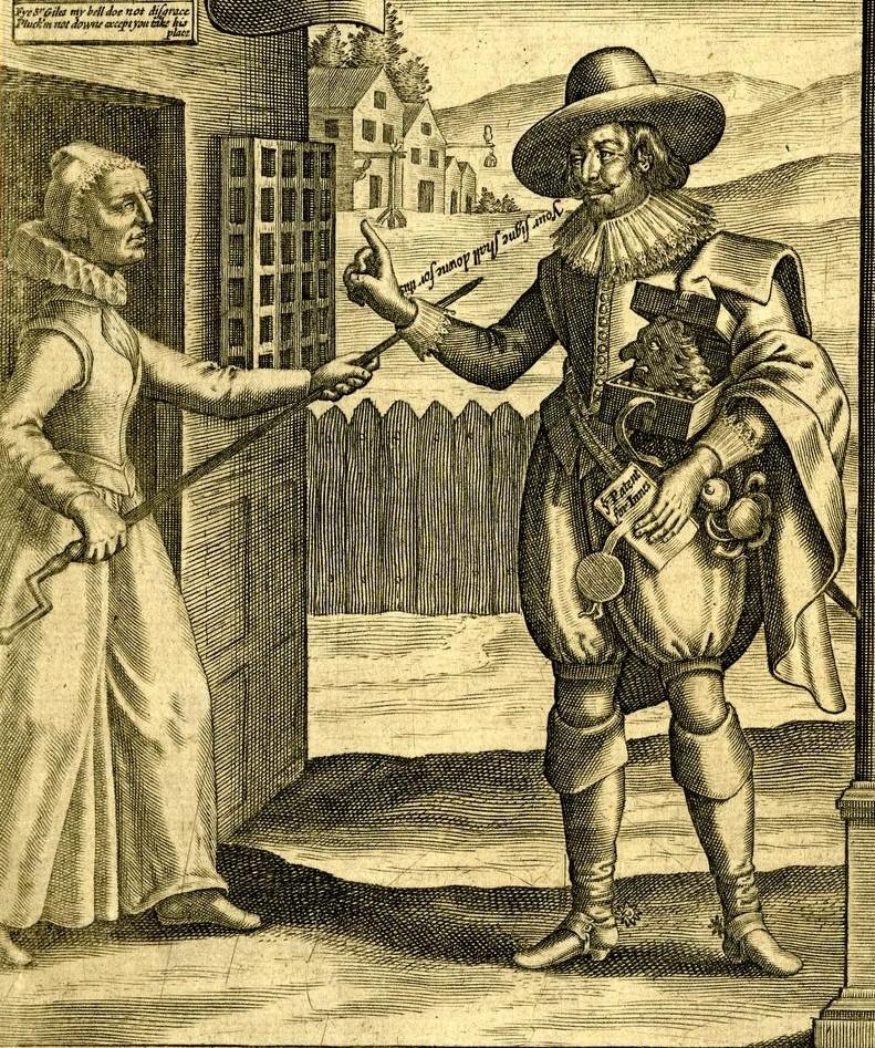 XVII-wieczny miedzioryt przedstawiający Gilesa Mompessona (domena publiczna).