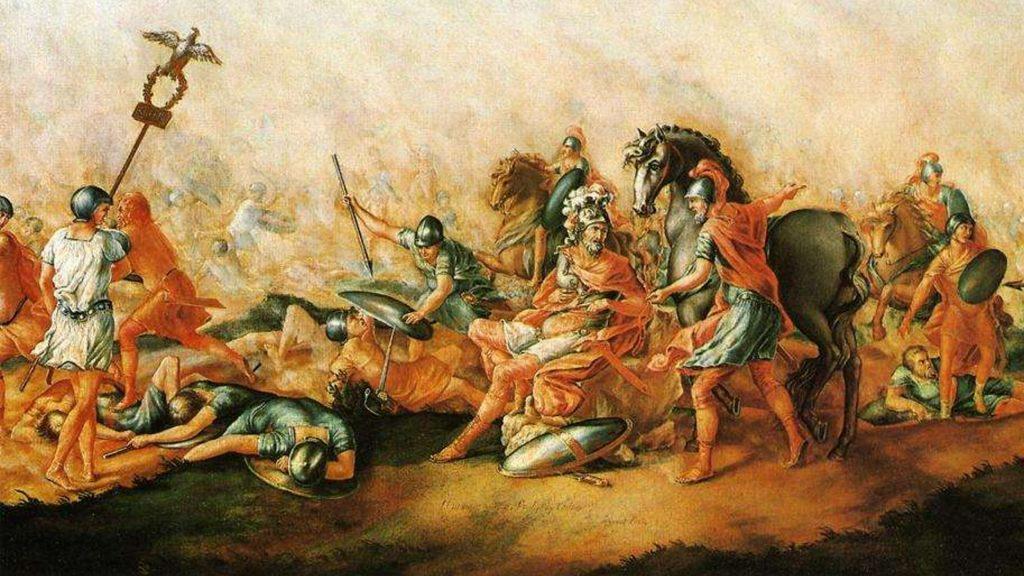 Bitwa pod Kannami na XVIII-wiecznym obrazie Johna Trumbulla.
